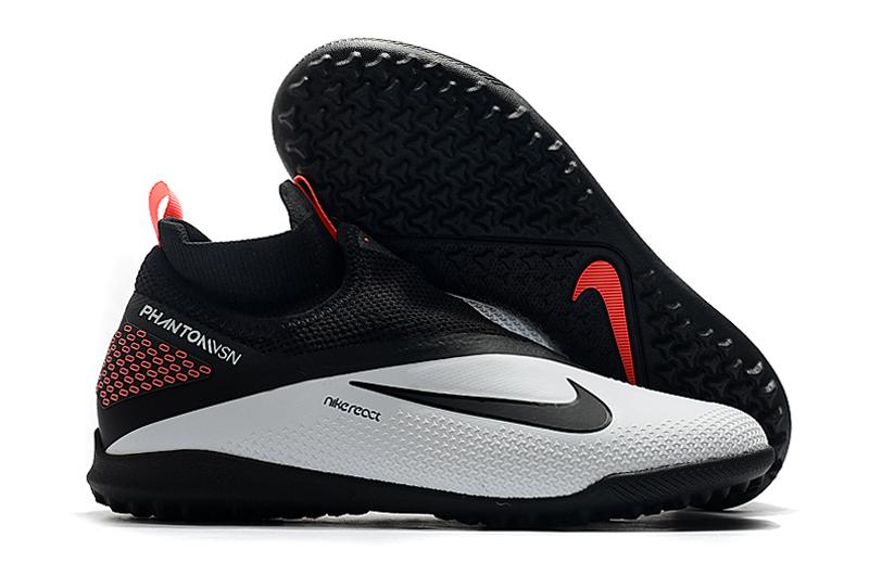 Nike React Phantom Vision 2 Pro Dynamic Fit TF black and white football shoes Outside