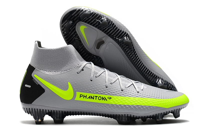 The new Nike Phantom GT Elite Dynamic Fit FG grey and yellow football boots buy