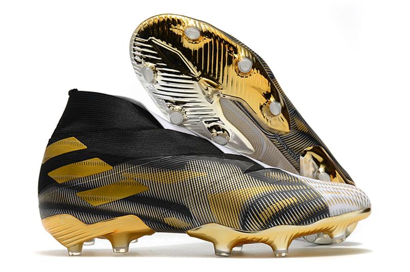 adidas Nemeziz + FG Platinum Black Coffee Laceless Football Shoes Outside