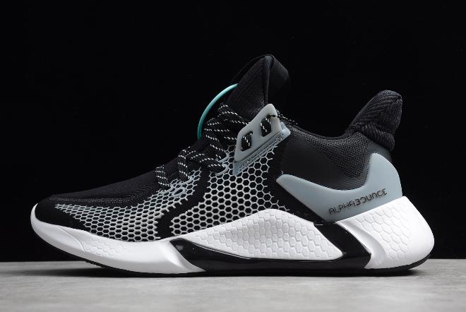 2020-Adidas-AlphaBounce-Instinct-M-Black-White-CG5595-For-Sale