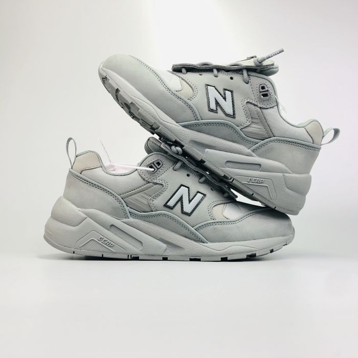 New Balance CMT580MJ cement gray retro sneakers Outside
