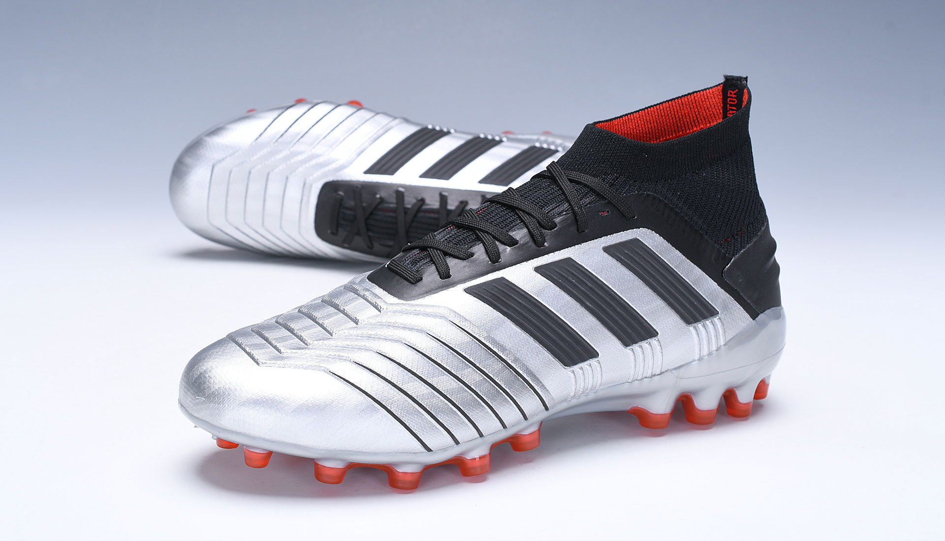 adidas Predator 19.1 AG Silver Red Football Boots Outside