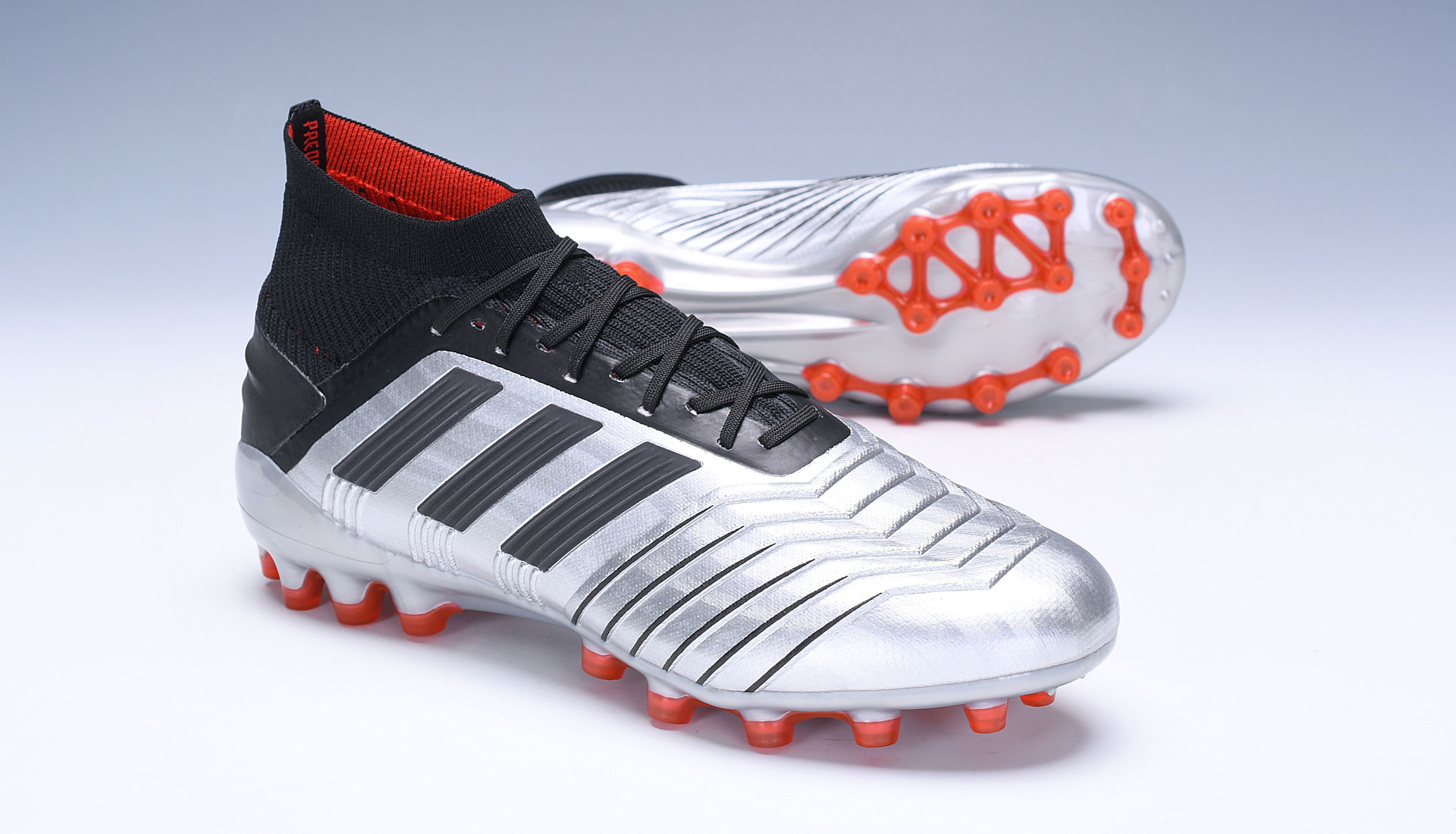 adidas Predator 19.1 AG Silver Red Football Boots Sell
