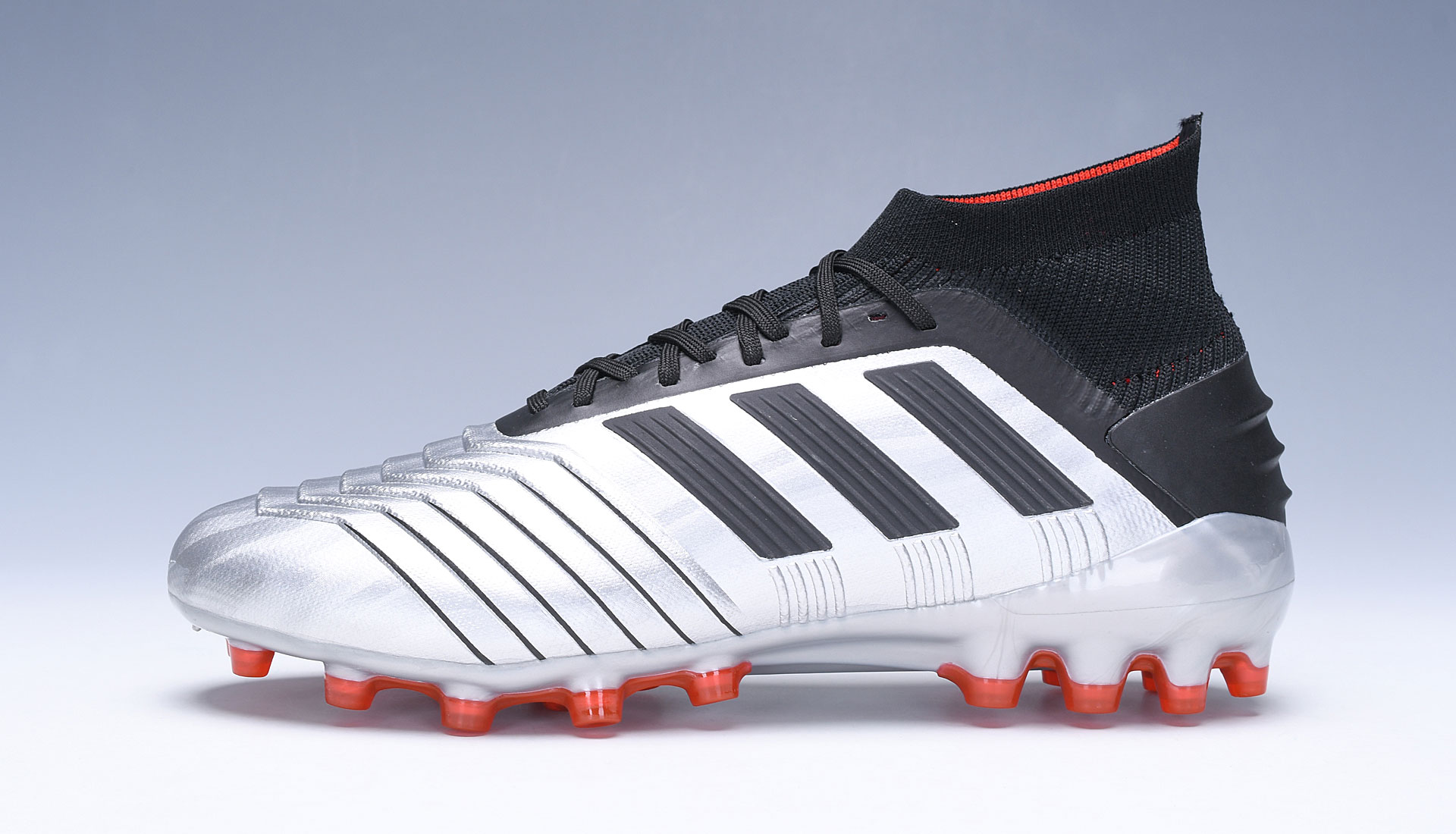 adidas Predator 19.1 AG Silver Red Football Boots Shoes