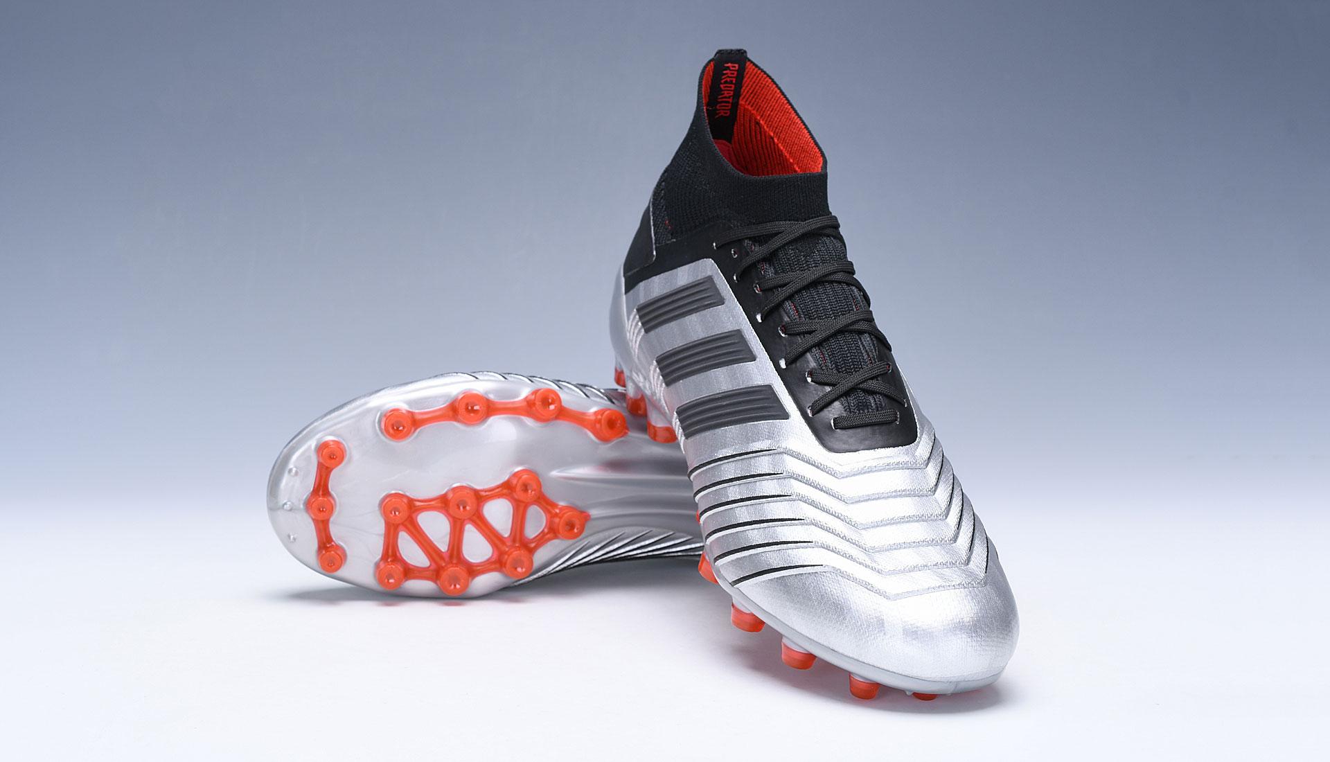 adidas Predator 19.1 AG Silver Red Football Boots Upper