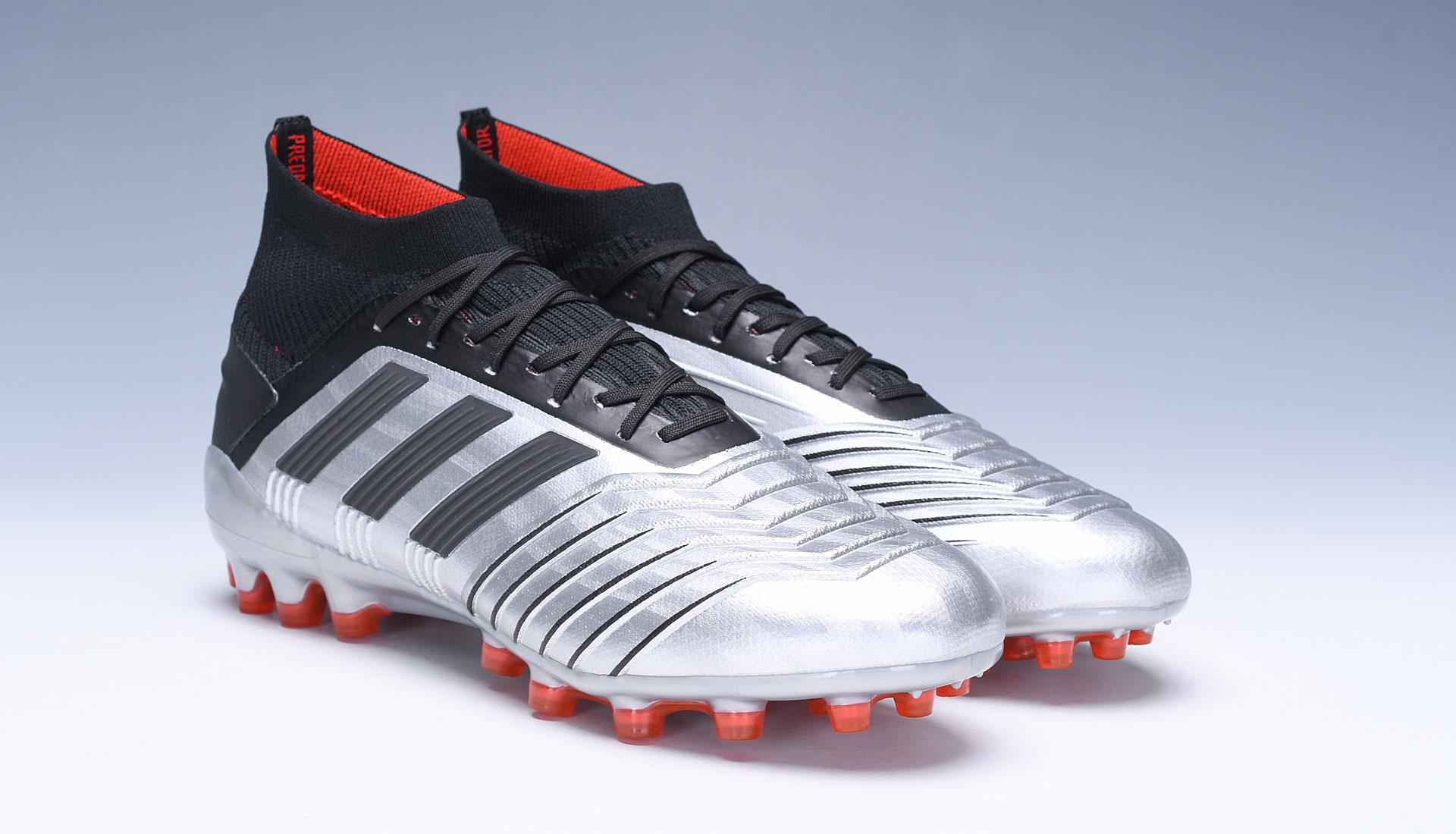 adidas Predator 19.1 AG Silver Red Football Boots shop