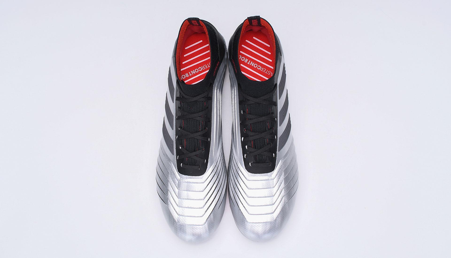 adidas Predator 19.1 AG Silver Red Football Boots