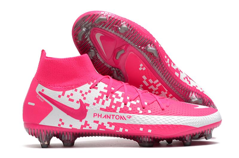 2021 Nike Phantom GT Elite Dynamic Fit FG white pink football shoes shop
