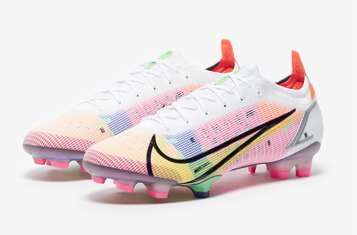 2021 Nike Mercurial Vapor Dragonfly 14 Elite FG pink yellow football shoes