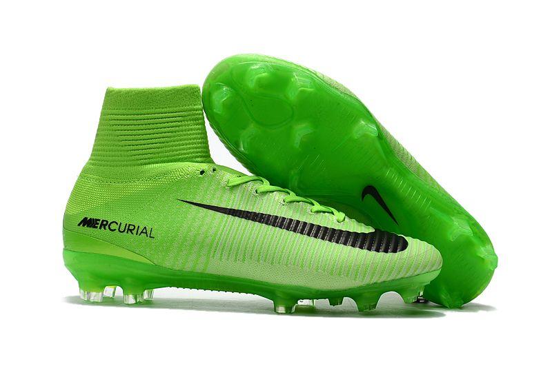 NIke Mercurial Superfly V FG green football boots Shop
