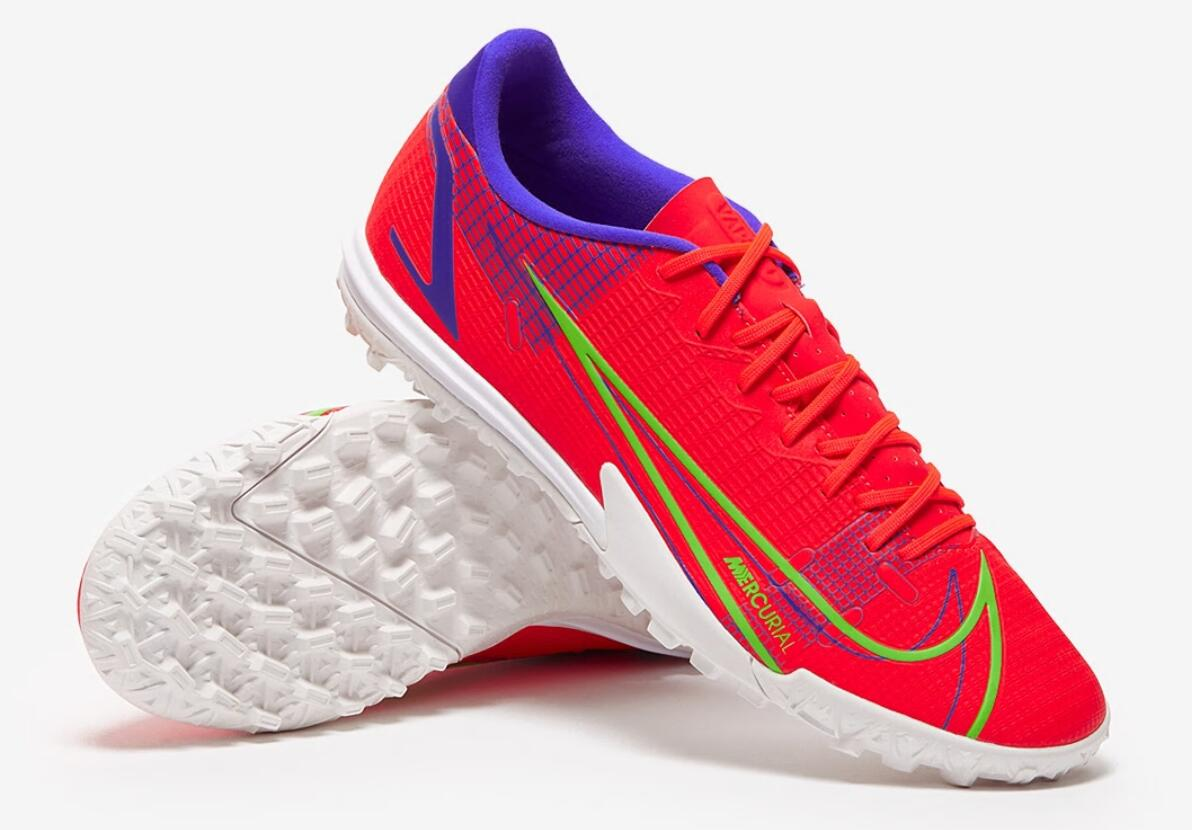 Nike Mercurial Vapor XIV Academy TF red and blue football shoes Outside