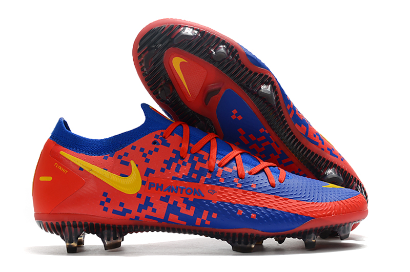 Nike Phantom GT Red Blue Waterproof Full Knit Original FG Football Boots