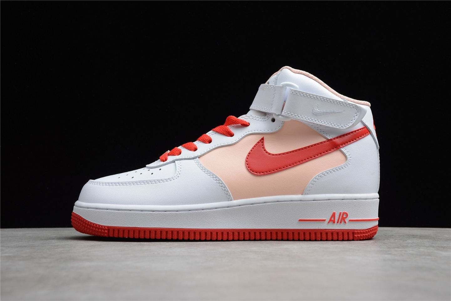 2021 Hot Sale Nike Air Force 1 07 Mid White Red Outlet Left CD0884-123