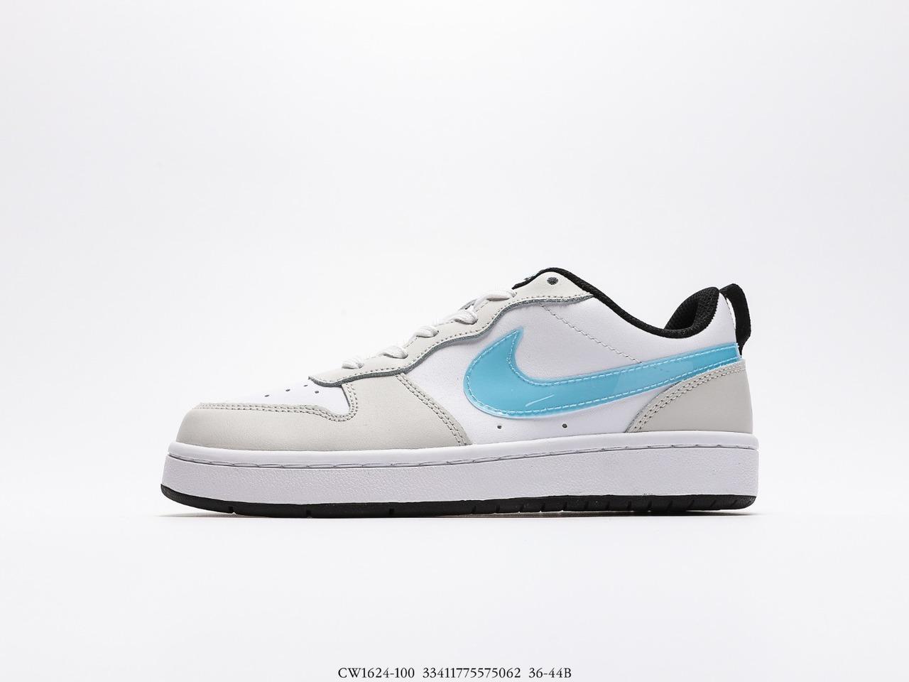 2021 Nike Court Borough Low 2 grey blue white sneakers