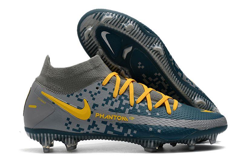 2021 Nike Phantom GT Elite Dynamic Fit FG blue and white football boots
