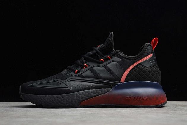 2021-adidas-Originals-ZX-2K-Boost-Gradient-Fade-Sole-Core-Black-FZ4641-For-Sale