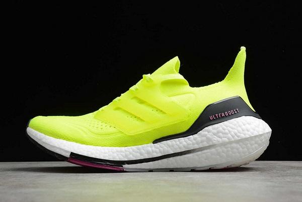 2021-adidas-Ultra-Boost-21-Volt-Black-White-FV0547-For-Sale
