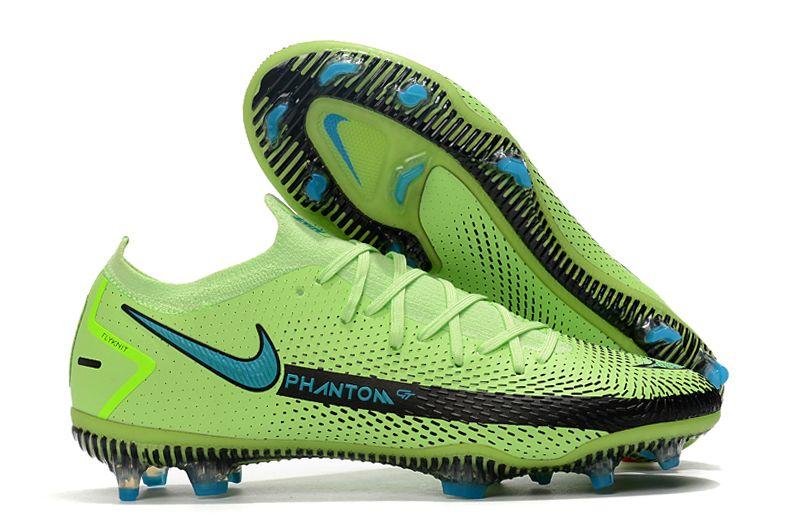 2021 new Nike Phantom GT Elite 3D FG green black blue football shoes Outside