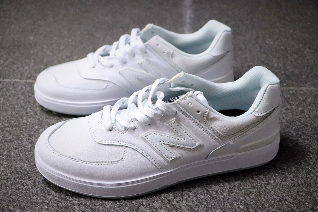AM574SSG all white NB574 sneakers
