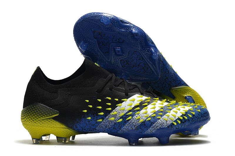 Adidas Predator freak. 1 low FG blue yellow football boots Outside