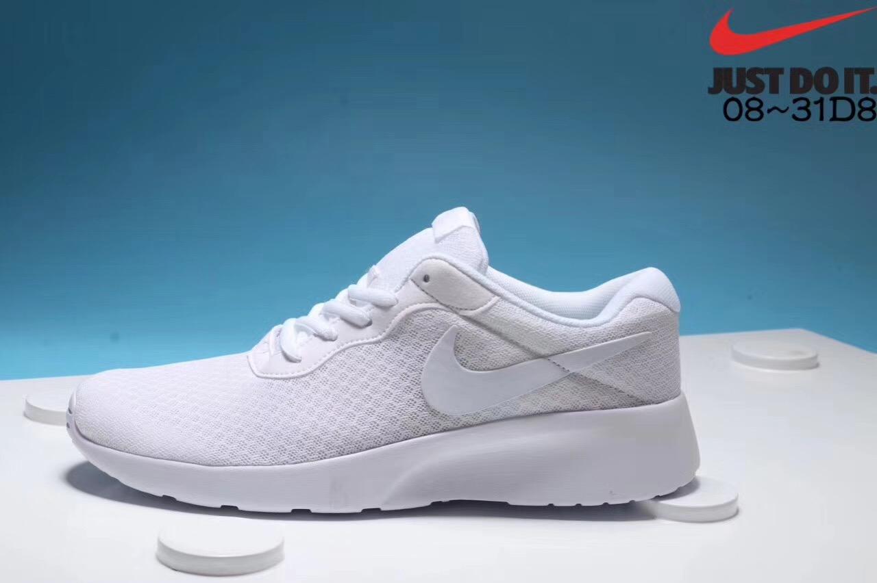 Men's and women's Nike London third-generation white jogging shoes Left