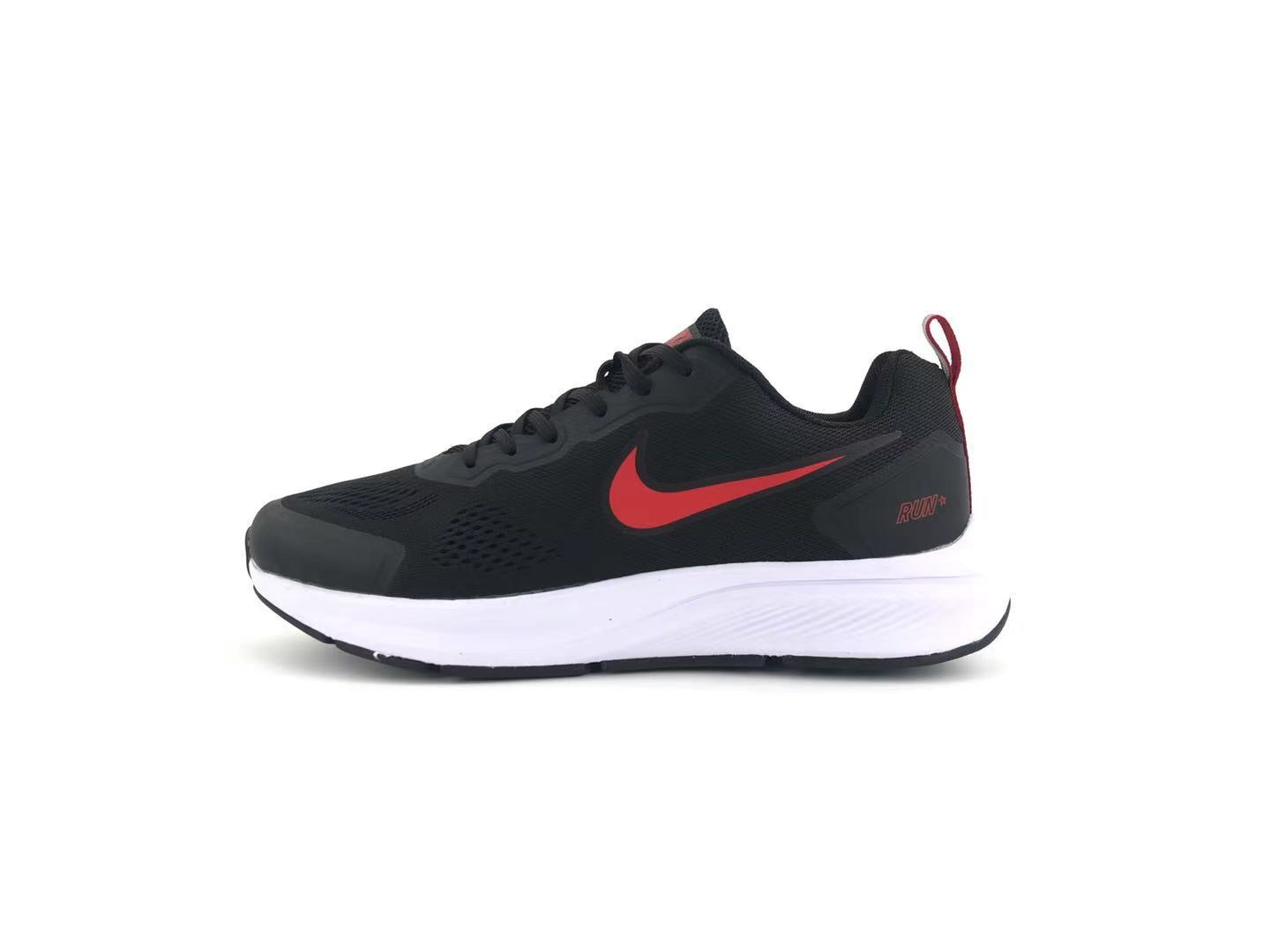 Nike Air Zoom 27 black and red running shoes Left