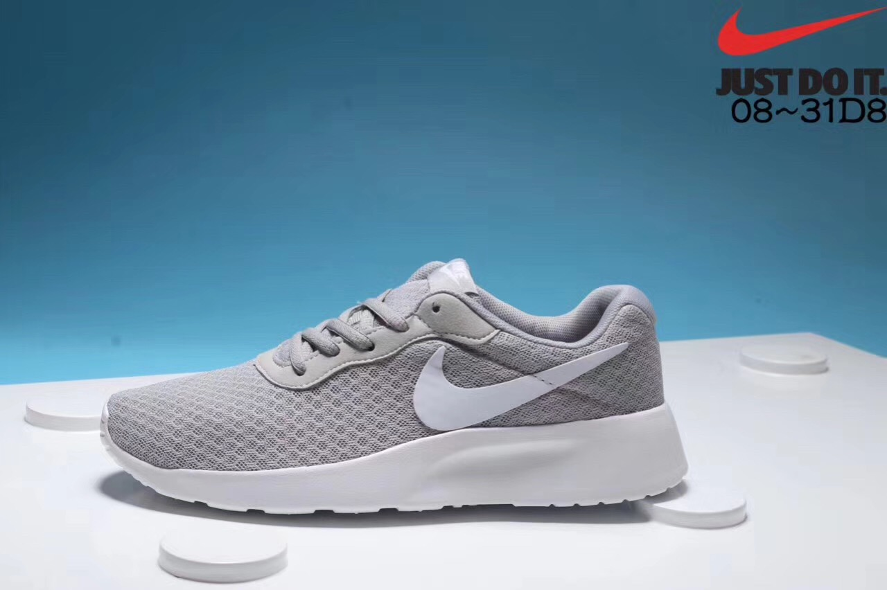 Nike London third-generation grey and white running shoes Left