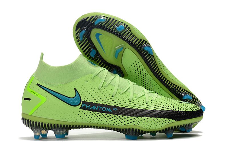 Nike Phantom GT Elite DF-Chlorine Blue Pink Blast Opti Yellow Football Boots Outside