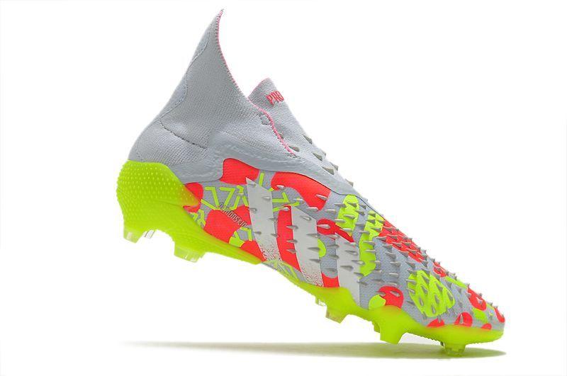 2021 Adidas PREDATOR FREAK + FG white and yellow football boots