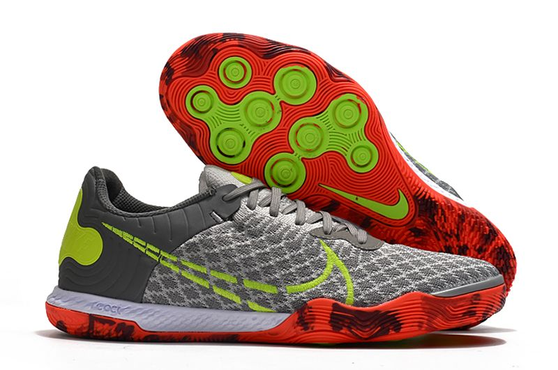 2021 Nike Reactgato IC Grey Yellow Football Boots overall