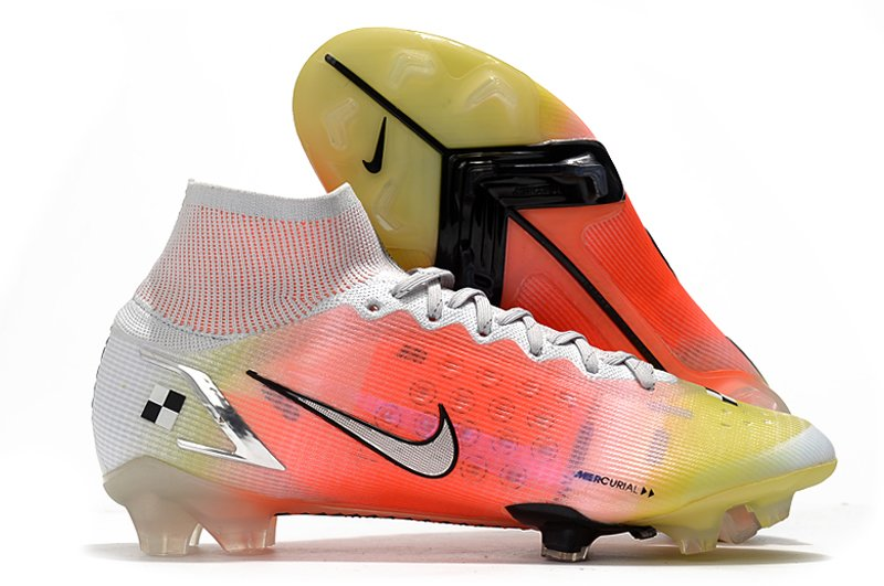 2021 Nike Superfly 8 Elite MDS FG Red, Yellow and White Football Boots side