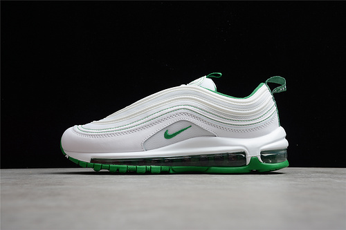 2021 new men and women Nike Air Max 97 White Pine Green Online DH0271-100