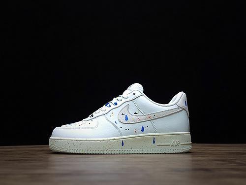 2021New Release Nike Air Force 1 07 Splatter White CZ0339-100