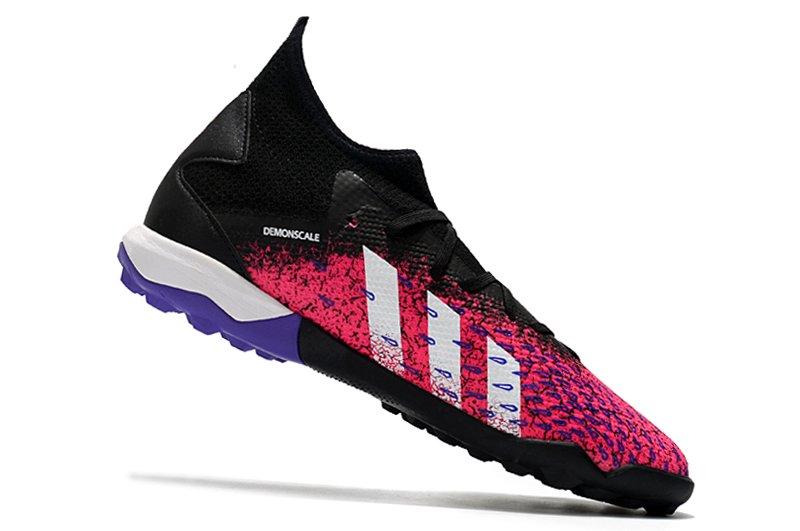 Adidas PREDATOR FREAK .3 TF black pink rivet football shoes Left Inside