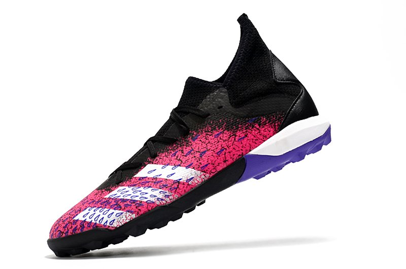 Adidas PREDATOR FREAK .3 TF black pink rivet football shoes Left