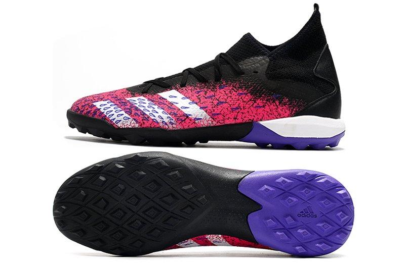 Adidas PREDATOR FREAK .3 TF black pink rivet football shoes Sole