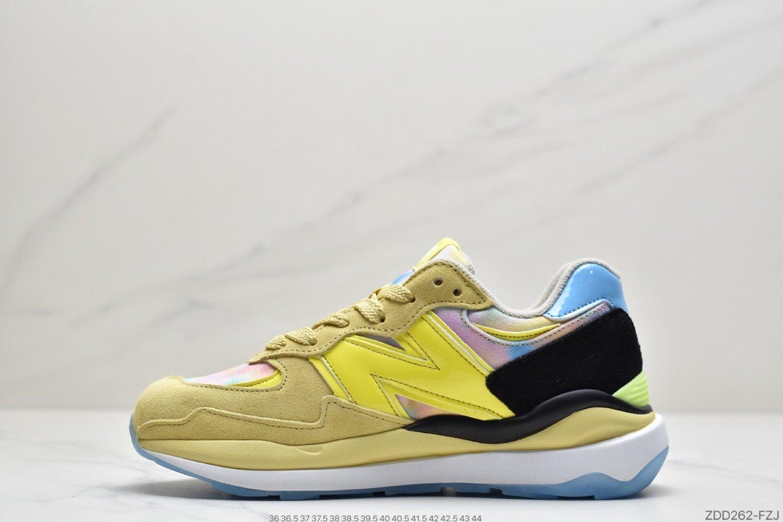 New Balance M5740LY Mesh Lemon Rainbow Rainbow Graffiti Casual Sports Jogging Shoes Left