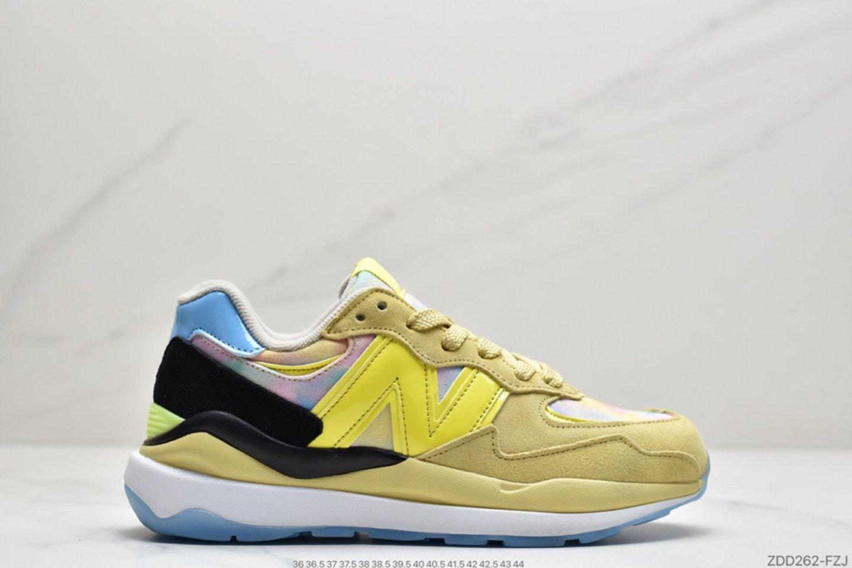 New Balance M5740LY Mesh Lemon Rainbow Rainbow Graffiti Casual Sports Jogging Shoes Outside