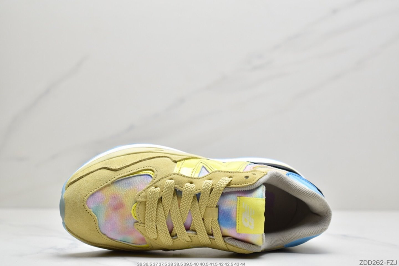 New Balance M5740LY Mesh Lemon Rainbow Rainbow Graffiti Casual Sports Jogging Shoes inside of