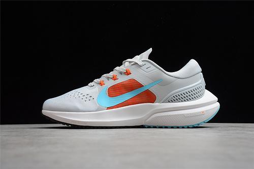 Nike Zoom Vomero 15 White Orange Lightweight Running Shoe CU1856-004