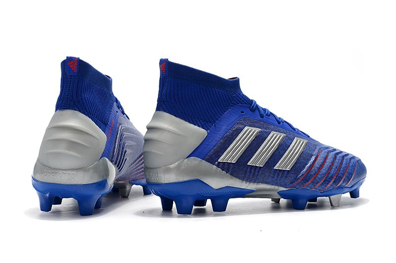 Weekly adidas Predator 19.1FG blue football shoes Back heel