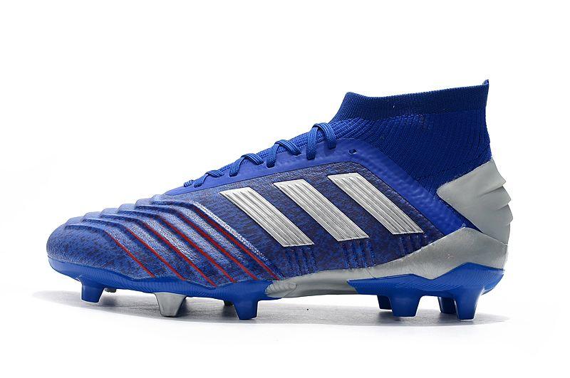 Weekly adidas Predator 19.1FG blue football shoes Outside