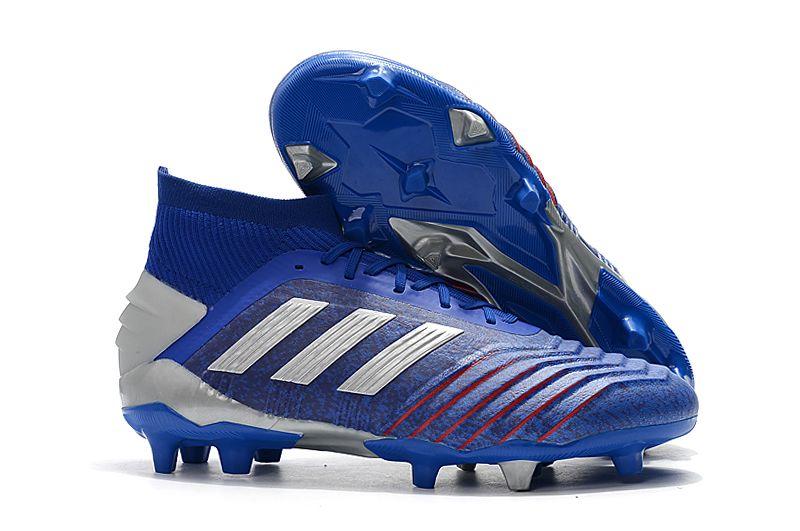 Weekly adidas Predator 19.1FG blue football shoes Right
