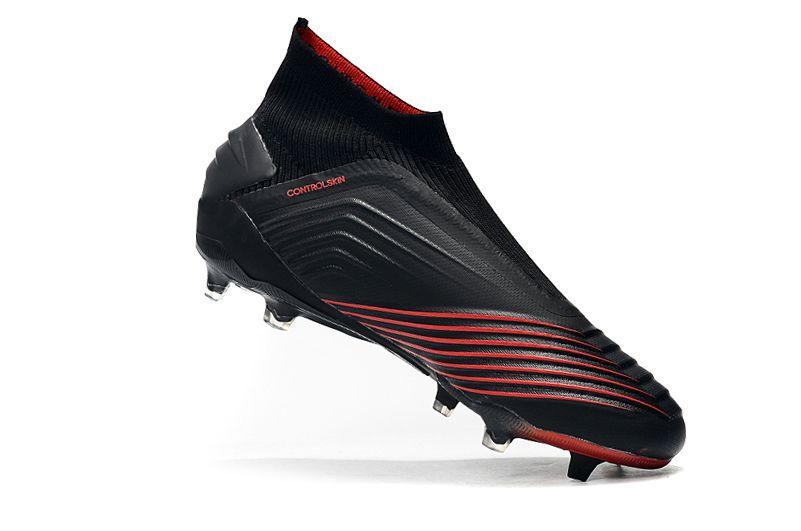adidas Predator 19+FG Black Crimson Football Boots Inside