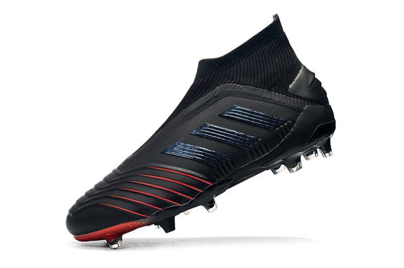 adidas Predator 19+FG Black Crimson Football Boots side