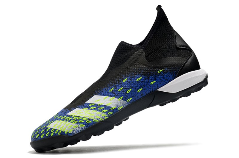 adidas Predator Freak3 Laceless TF Black Blue Football Boots Left