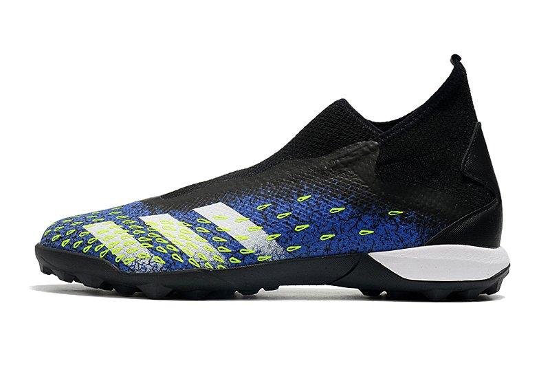 adidas Predator Freak3 Laceless TF Black Blue Football Boots Outside