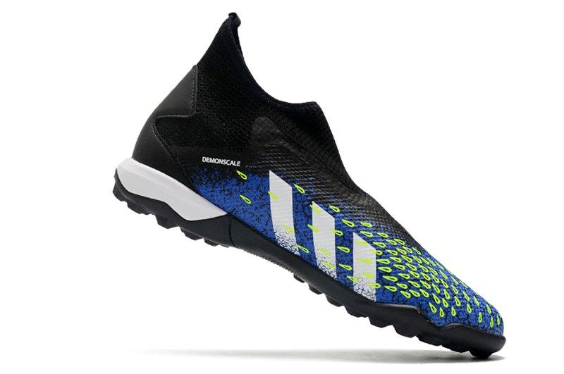 adidas Predator Freak3 Laceless TF Black Blue Football Boots Right