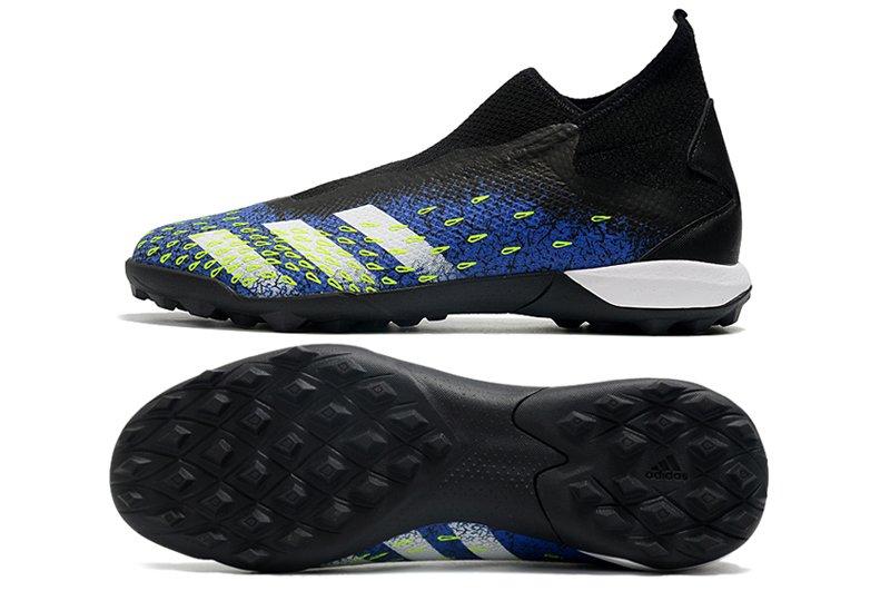 adidas Predator Freak3 Laceless TF Black Blue Football Boots overall