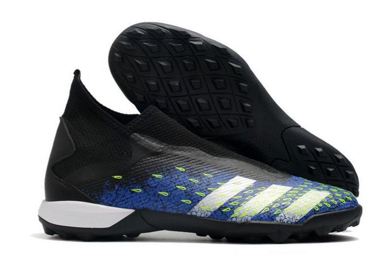adidas Predator Freak3 Laceless TF Black Blue Football Boots